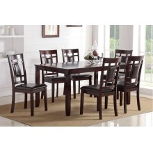 F2294 / Cat.19.p83- 7PCS DINING SET TABLE+6CHAIR