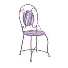 Yates Purple Iron Bistro Chair