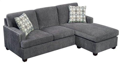 Emerald Home Siesta Queen Plus Sleeper Chofa-gray W/gel Foam Mattress W/2 Accent Pillows U3261-66-03