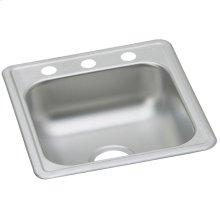 "Dayton Stainless Steel 17"" x 19"" x 6-1/8"", Single Bowl Drop-in Bar Sink"