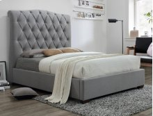 Janice Queen Headboard Grey