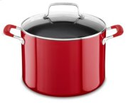 Aluminum Nonstick 8.0-Quart Stockpot with Lid - Empire Red Product Image