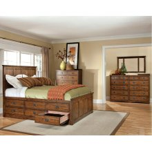 California King Panel Bed, Footboard