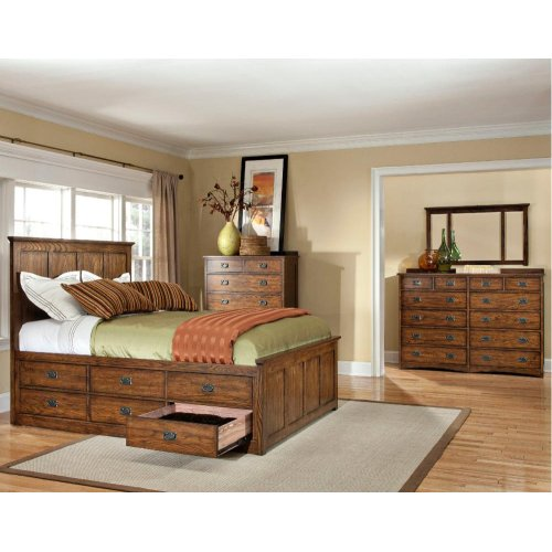 King/Queen Rail, 6 Drawer Storage