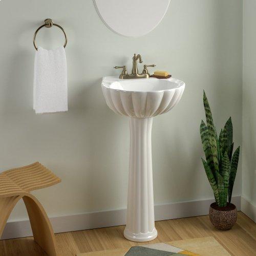 "Bali Pedestal Lavatory - 8"" Widespread / White"