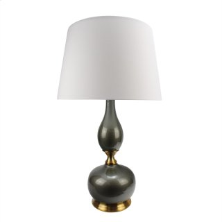 "Ceramic 33"" Genie Table Lamp,gray"