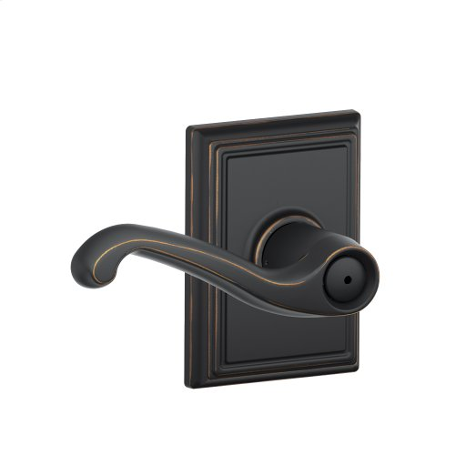 Flair Lever with Addison trim Bed & Bath Lock - Aged Bronze