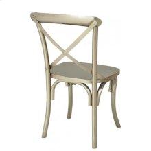 Modern Industrial X Back Chair