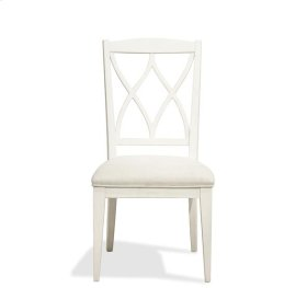 Myra XX-Back Upholstered Side Chair Paperwhite finish