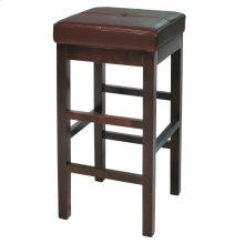 Valencia Backless Leather Bar Stool, Cognac