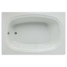 "Easy-Clean High Gloss Acrylic Surface, Rectangular, Soaking Bathtub, 48"" x 72"""