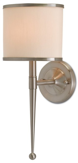 Primo Wall Sconce W/ Cream Shade - 8w x 19h x 8d