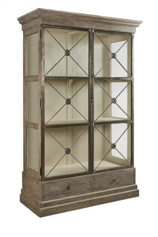 Xander Glass Door Bookcase