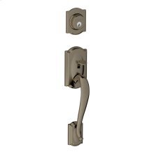 Camelot In-active Handleset and Plymouth Knob - Antique Pewter