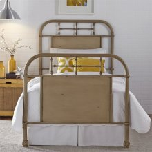 Twin Metal Bed - Vintage Cream