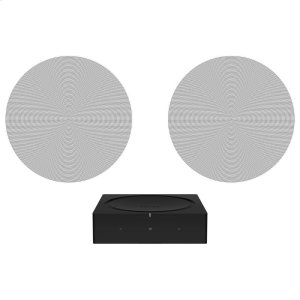 SonosBlack- Architectural sound with Amp and Sonos In-Ceiling by Sonance