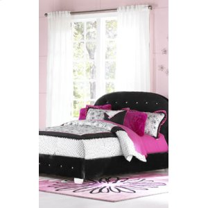 Uph Black Hdbd/ftbd, W/pillows, 3/3