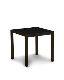 "Textured Bronze & Black MOD 30"" Dining Table"
