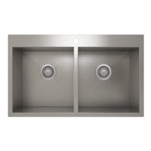 ProInox H0 50/50 Double Bowl Topmount Kitchen Sink ProInox H0 18-gauge Stainless Steel, 30'' X 16'' X 9''