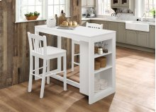 Classic White Counter Height Stool