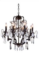 """1132 Charlotte Collection Chandelier D:26"""" H:28"""" Lt:8 Antique Bronze Finish (Royal Cut Crystals) Product Image"""
