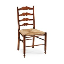 Ladder Back Country Chair with Rushed Seat