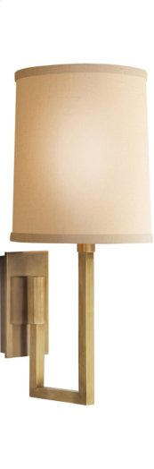 Visual Comfort BBL2027SB-L Barbara Barry Aspect 1 Light 6 inch Soft Brass Decorative Wall Light