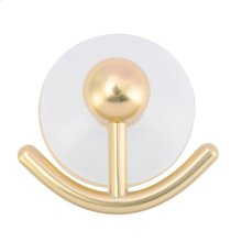 Anja Double Robe Hook - Antique Brass