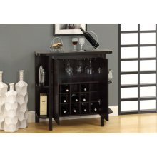 """HOME BAR - 36""""H / CAPPUCCINO WITH BOTTLE / GLASS STORAGE"""