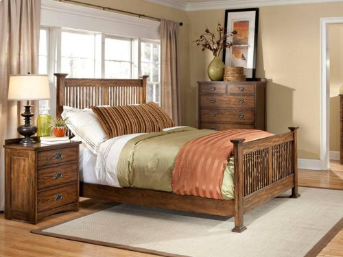 Queen Slat Bed, Standard