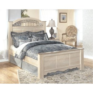 Ashley Furniture Catalina - Antique White 3 Piece Bed Set (King)