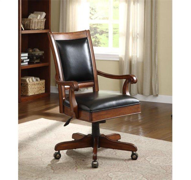 Bristol Court Desk Chair Cognac Cherry Finish