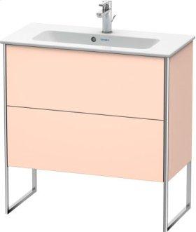 Vanity Unit Floorstanding Compact, Apricot Pearl Satin Matt Lacquer