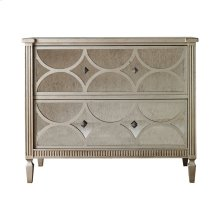 Crown Point Chest with Antique Mirror Behind Mullions