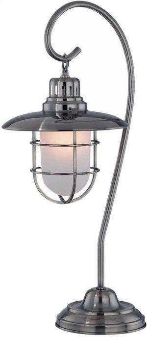 Table Lamp, Ab/metal Lantern/glass Shade, E27 13w