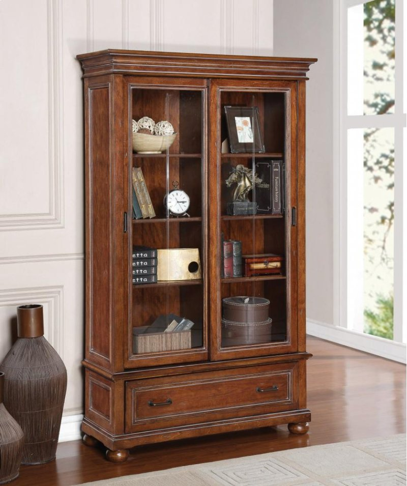 Flexsteel In Idaho Falls ID American Heritage Sliding Door Bookcase