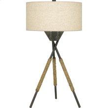 Pembroke Table Lamp in Tarnished Bronze