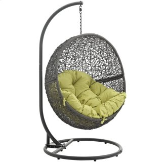 Hide Outdoor Patio Swing Chair With Stand in Gray Peridot