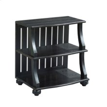 Elm Ridge Open Chairside Table-Black