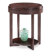 Chocolate Cherry Oval End Table #10107-CH