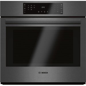 "BOSCH800 Series 30"" Single Wall Oven, HBL8442UC, Black Stainless Steel"