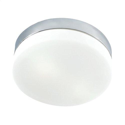 Disc Medium Flushmount Frosted glass / Metallic Chrome finish