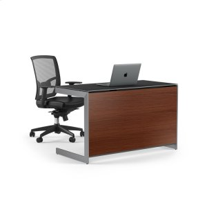 Bdi FurnitureCompact Desk Back Panel 6008 in Chocolate Stained Walnut