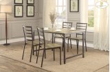 5-Piece Pack Dinette Set Table: 31.5 x 47.25 x 29.75H Chair: 15.75 x 17.5 x 35.75H Product Image