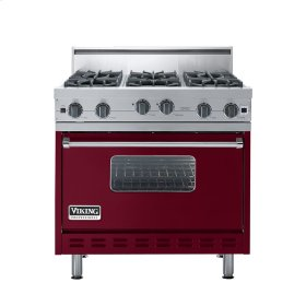 "Burgundy 36"" Open Burner Range - VGIC (36"" wide, six burners)"