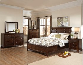 Jackson Sleigh King Bed-Standard HB