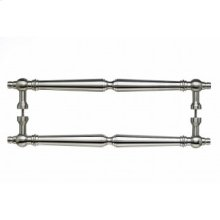 Asbury Door Pull Back to Back 12 Inch (c-c) - Brushed Satin Nickel