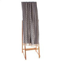 Navy & Natural Braided Throw Product Image