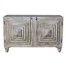 Bengal Manor Mango Wood 2 Stacked Pyramid Door Cabinet