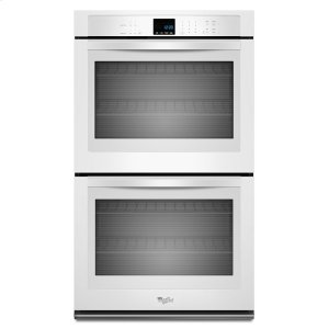 8.6 cu. ft. Double Wall Oven with SteamClean Option - WHITE